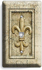 ROYAL FLEUR DE LIS LIGHT PHONE JACK TELEPHONE WALL PLATE SWITCH COVER ROOM DECOR