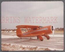 Vintage Photo Beech Staggerwing Airplane w/ Open Sky View Zephyrhills FL 748121