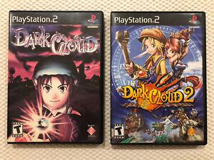 Dark Cloud / Dark Cloud 2 ( Sony PlayStation 2 ) PS2 Complete w/Case & Manual