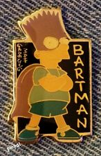 Bartman Super Hero Pin Badge~Bart Simpson~Batman~The Simpsons~1990 Vintage~NOS