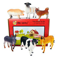 Farm Animal Plastic Toy Figures boxed set of 6 from UK importer