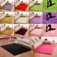 Fluffy Rugs Anti-Skiding Shaggy Area Rug Dining Room Bedroom Carpet Floor Mat LN