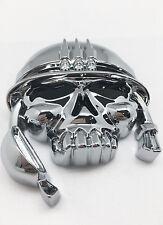 (1) 3D Carlab Custom Chrome Army Military Skull Emblem Badge Sticker Decall