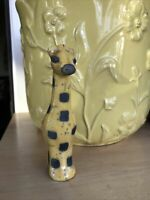 The Fenix South Africa Raku Pottery Giraffe Gold & Gray Miniature Figurine