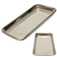 Dental Stainless Steel Medical Surgical Tray Dish Lab Instrument 22x12x2cm US