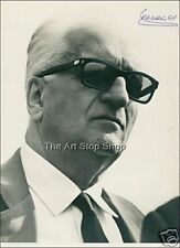 Enzo Ferrari autograph photo print