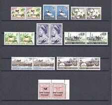 COOK ISLANDS 1966 SG 185/93, 93a MNH Pairs Cat £44