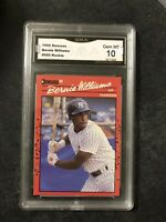1990 Donruss Bernie Williams #689 RC GMA Gem MT 10 Error No Period After INC