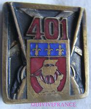 IN7344 - INSIGNE 401° Régiment d'Artillerie Antiaérienne, bleu clair