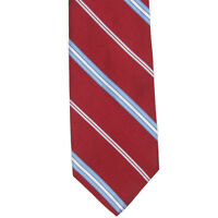 BROOKS BROTHERS Red Blue Diagonal Striped Mens Silk Neck Tie
