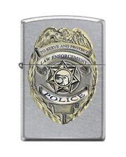Zippo 3003 Police Badge Law Enforcement Street Chrome Finish Lighter