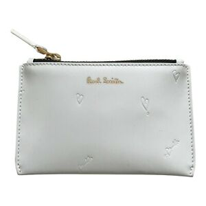 Paul Smith Ladies White COIN PURSE WALLET Hearts Design Made in Spain