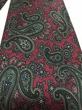 Robert Talbott Dark Pink Teal Paisley Silk Neck Tie Gorgeous