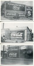 Six 1920's Real Photo Postcards of Coca-Cola Signs Painted on Buildings