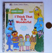I Think That It Is Wonderful Little Golden Book Sesame Street kids poems Muppets