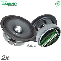 "2x Timpano TPT-MR6-4 BULLET 6.5"" Pro Audio Car Speakers 250 Watts Midrange 4 Ohm"