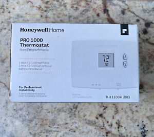 Honeywell TH1110DH1003 Pro 1000 Non Programmable 1 Heat 1 Cool Thermostats New