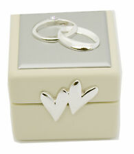 Wedding Ring Box with Double Hearts Wedding Ring Bearer  Box