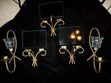 Lot of 10 Home Interior 3 Twisted Rope Wall Shelfs & 2 candle holders w/ votives
