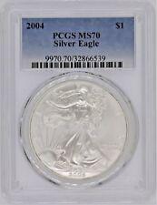 2004 $1 Silver Eagle MS70 PCGS