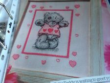 CROSS STITCH CHART TATTY TEDDY BEAR CHART LOVE HEART CUTE BEAR CHART ONLY