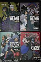 JAPAN Yuji Iwahara manga: Darker than Black: Shikkoku no Hana 1~4 Complete Set