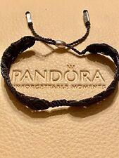Genuine Pandora Moments Braided Grey Bracelet
