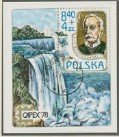 POLEN 1978, Block Internationale Briefmarkenausstellung CAPEX '78, Toronto FDI