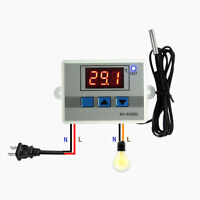 220V/12V/24V Digital LED Temperature Controller 10A Thermostat Switch+Probe Hot