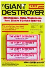 Giant Destroyer 00333 4PK Gas Bomb - Gopher, Mole and Rat Killer 3306172