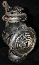 Ford Model T Kerosene Carriage Lamp - WWI Era White Metal Burner & Orig. Bracket