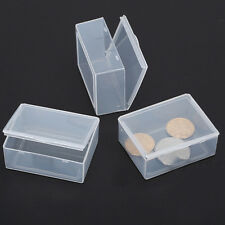 5pcs Clear Plastic Storage Box Collection Container Case Part Box QY
