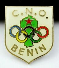 1988 Seoul Olympics BENIN NOC Olympic Committee Pin Badge Very rare