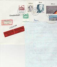 Deutschland Einschreibbrief mit Mischfrankatur Bundespost und Deutsche Post 1990