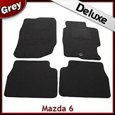 Mazda 6 Mk1 2002-2007 Fully Tailored LUXURY 1300g Carpet Car Floor Mats GREY