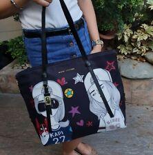 Marc Jacobs Zip Large Tote Bag Womens Nylon Two Lady Print