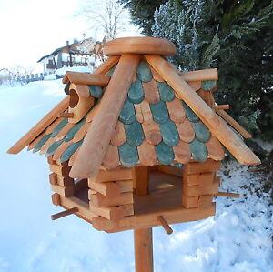 Luxus Vogelhaus Top-Qualität XXL Holz Futterhaus Vogelhäuser impregniert Großes