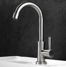 Brushed Nickel 304 Stainless Steel Only Cold  Water Tap Faucet For Kitchen Bath