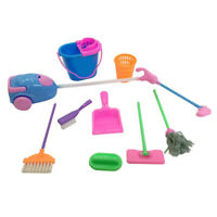 9pcs/set Mini Cleaning Set For Doll House Decoration Cleaning Kit
