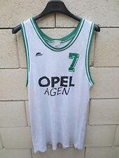VINTAGE Maillot basket AGEN OPEL porté 7 START match worn shirt camiseta maglia