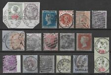 GREAT BRITAIN Used Classic Lot of 18 Stamps Unchecked High CV