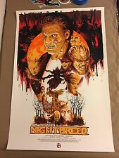Clive Barker's Night Breed variant screen print poster by Vance Kelly ed of 40