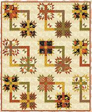 Square Dance Quilt Kit - Uses Kanvas's Leaf Into Autumn by Maria Kalinowski