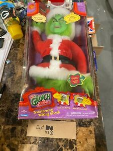 Vintage Playmates The Grinch Stole Christmas Transforming Talking Plush In Box
