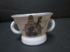 VINTAGE W H GOSS CRESTED WARE WILLIAM OF WYKEMAN CREST MODEL CROMWELLIAN MORTAR