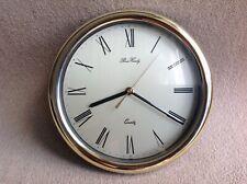 Peers Hardy Wall Clock (Quartz Battery) Gold Rimmed Roman Numerals 25cm
