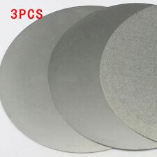 3X 6-inch Diamond Coated Flat Lap Wheel Jewelry Lapidary Polishing Grinding Disc