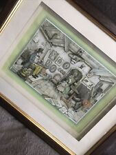 More details for framed anton pieck photographer 3d art layered decoupage glazed shadow box 16x13