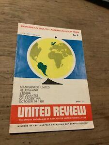 MANCHESTER UNITED v ESTUDIANTES WORLD CLUB CHAMPIONSHIP 16/10/1968 (Ref 193)