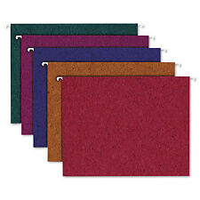 Pendaflex Earthwise Recycled Colored Hanging File Folders 1/5Tab Letter Assorted